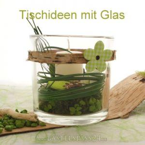 Bastelideen bastelanleitungen floristik basteln bastelanleitungen - Glasvasen dekorieren ...