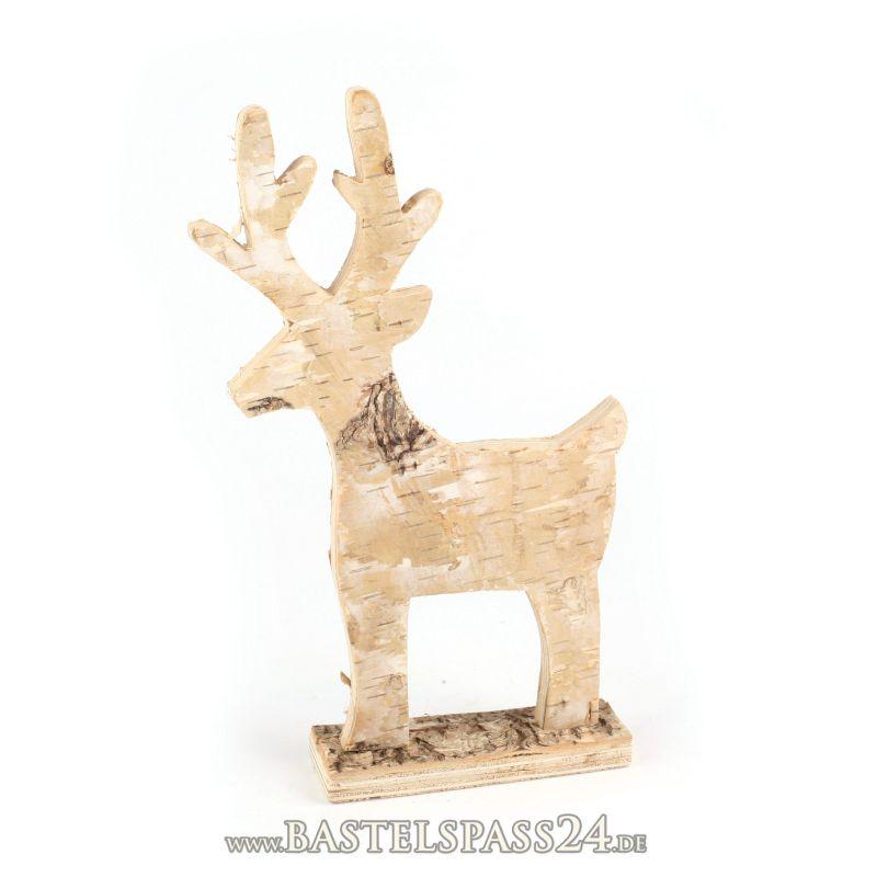 deko hirsch aus birke hirsche f r weihnachtsdeko gro stehend h 25x b 16 cm. Black Bedroom Furniture Sets. Home Design Ideas