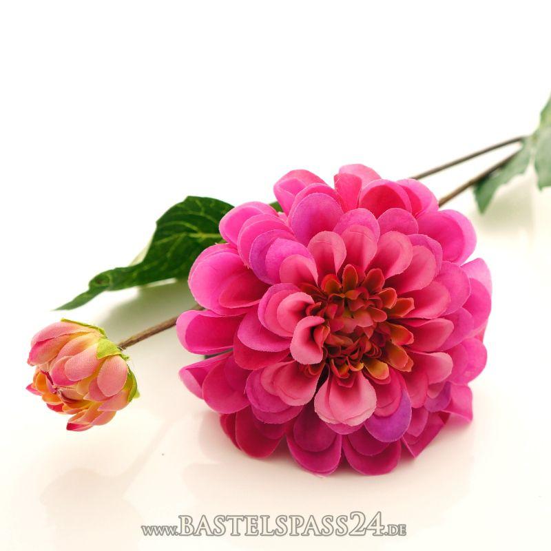 dahlien seidenblumen blumen k nstlich f r hochzeit tischdeko l 49 cm rosa pi. Black Bedroom Furniture Sets. Home Design Ideas