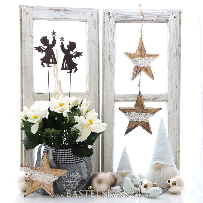 deko engel weihnachten aus metall ve 1 stk gr l 50 cm fensterdeko als blumenstecker f. Black Bedroom Furniture Sets. Home Design Ideas
