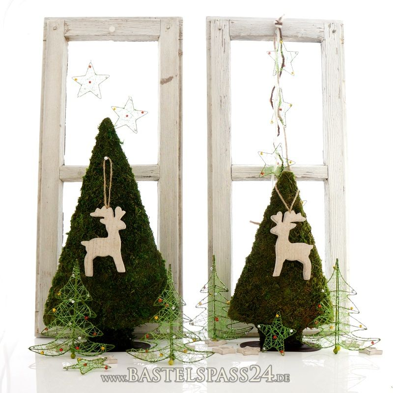 moostannenbaum h 40 cm f r die fensterdekoration advent weihnachten landhaus basteln. Black Bedroom Furniture Sets. Home Design Ideas