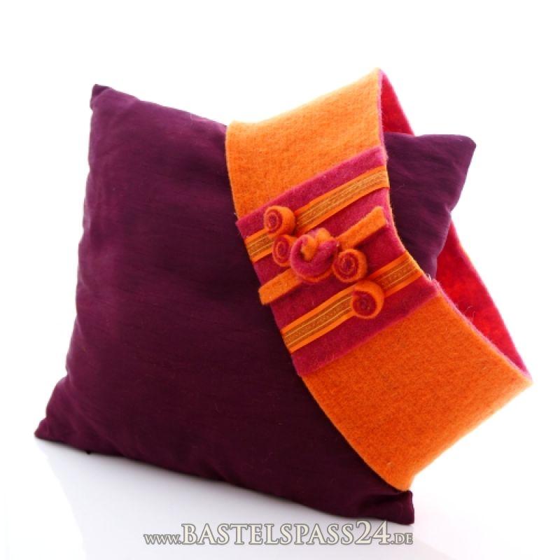 basteln mit filzband zweifarbig tolle bastelideen f r kissen blumenvasen windlichte. Black Bedroom Furniture Sets. Home Design Ideas