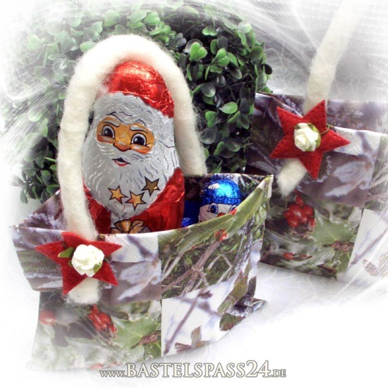 geschenktaschen aus servietten und wollkordeln neue kreativideen f r weihnachten. Black Bedroom Furniture Sets. Home Design Ideas