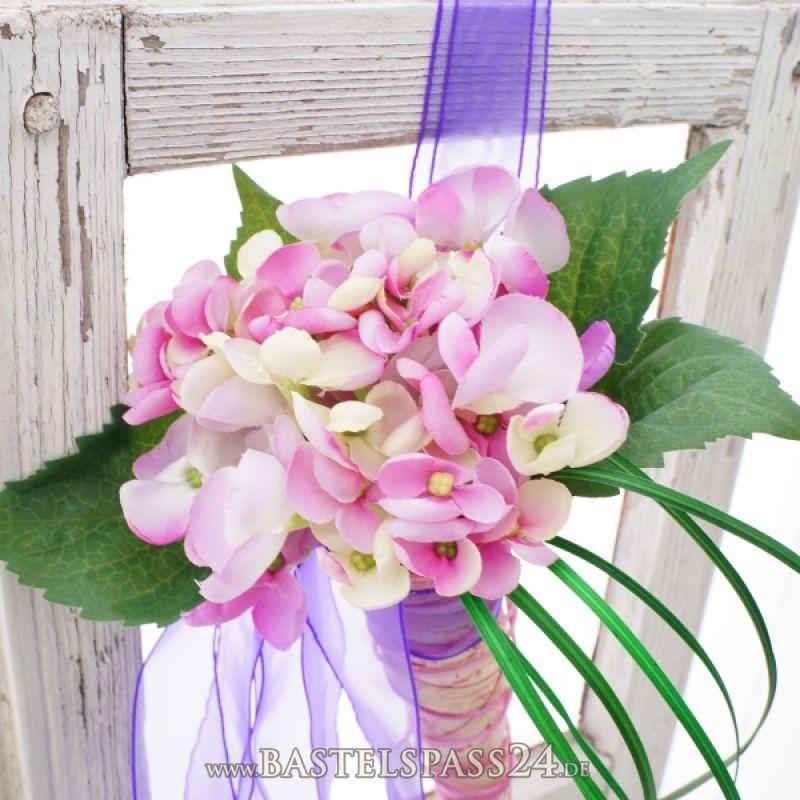 hochzeitsdeko kirchenbankschmuck lila rosa mit. Black Bedroom Furniture Sets. Home Design Ideas