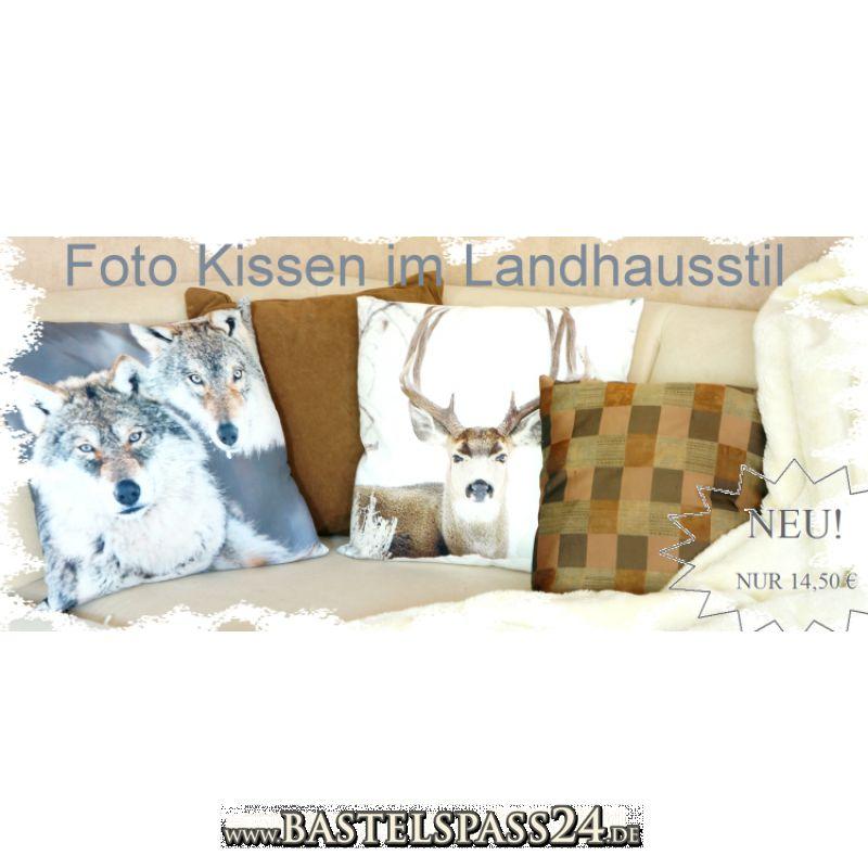 foto kissen tiere w lfe mit f llung und rei verschlu l45cm b45cm. Black Bedroom Furniture Sets. Home Design Ideas