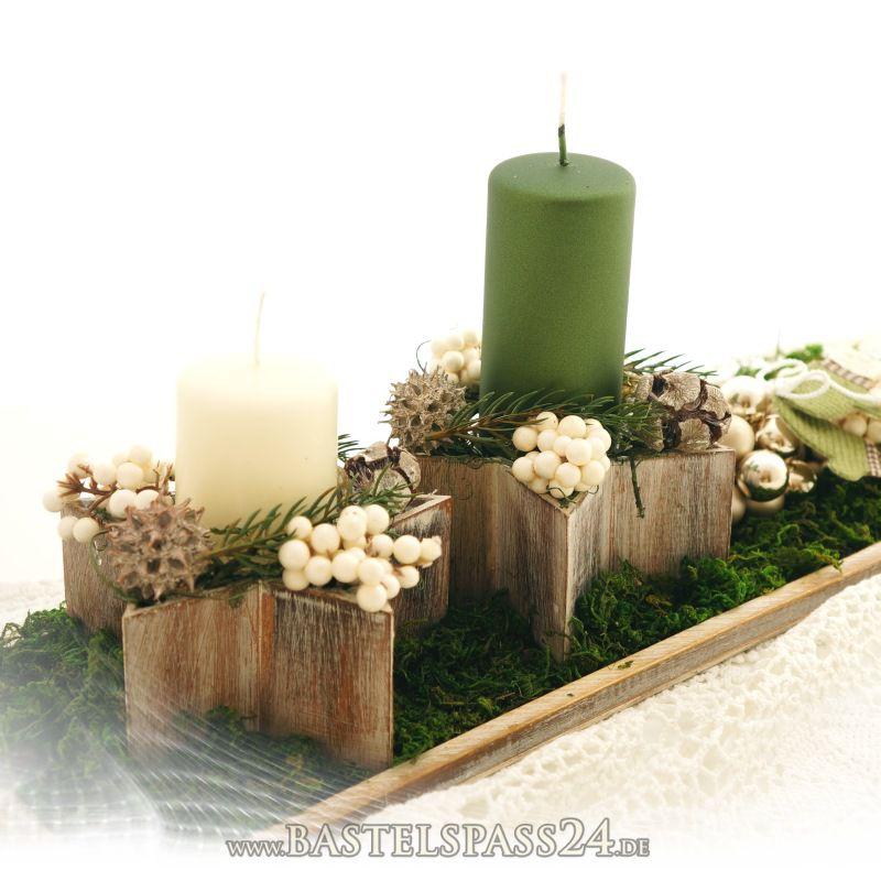 sternschale aus holz f r weihnachten und tischdeko gr 13 5 x 6 cm mit folie im land. Black Bedroom Furniture Sets. Home Design Ideas