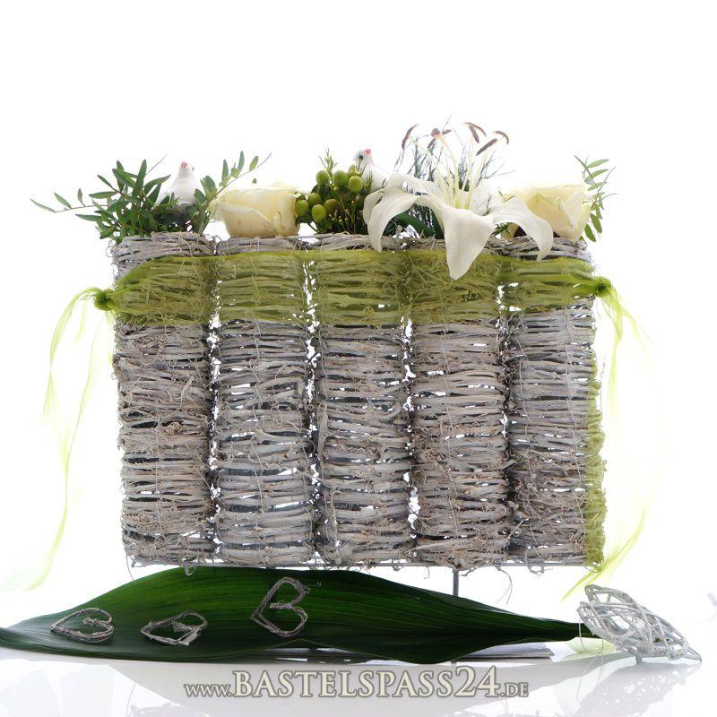 5 Vasen Aus Rebe Gewei T F R Hochzeit Mit Einsatz Auf