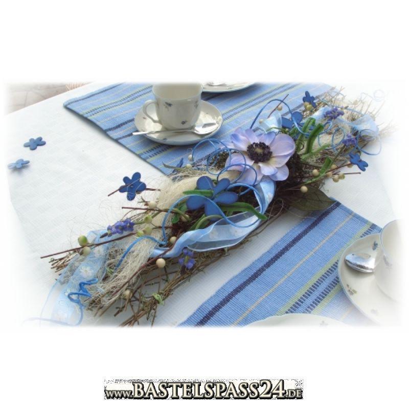 Tischdeko in blau weiß Bastelset - Einkaufszettel anzeigen ...