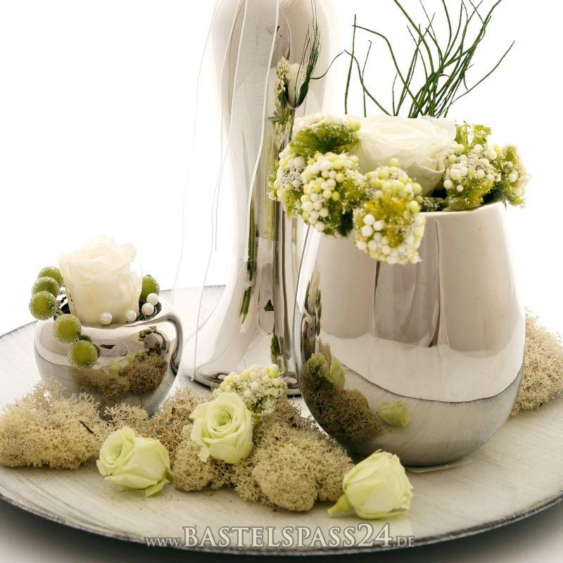 Tischdeko silber f r hochzeit silberhochzeit und - Dekoration zur silberhochzeit ...