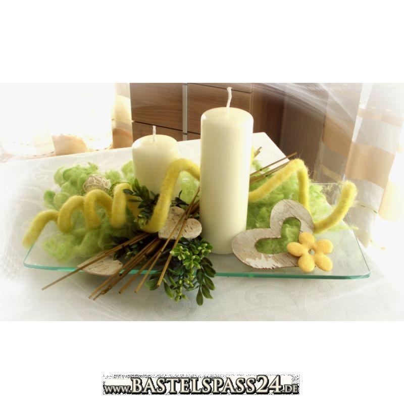 Kreativset dekomix gelb f r fr hjahr ostern und sommer for Gestecke fa r weihnachten selber machen