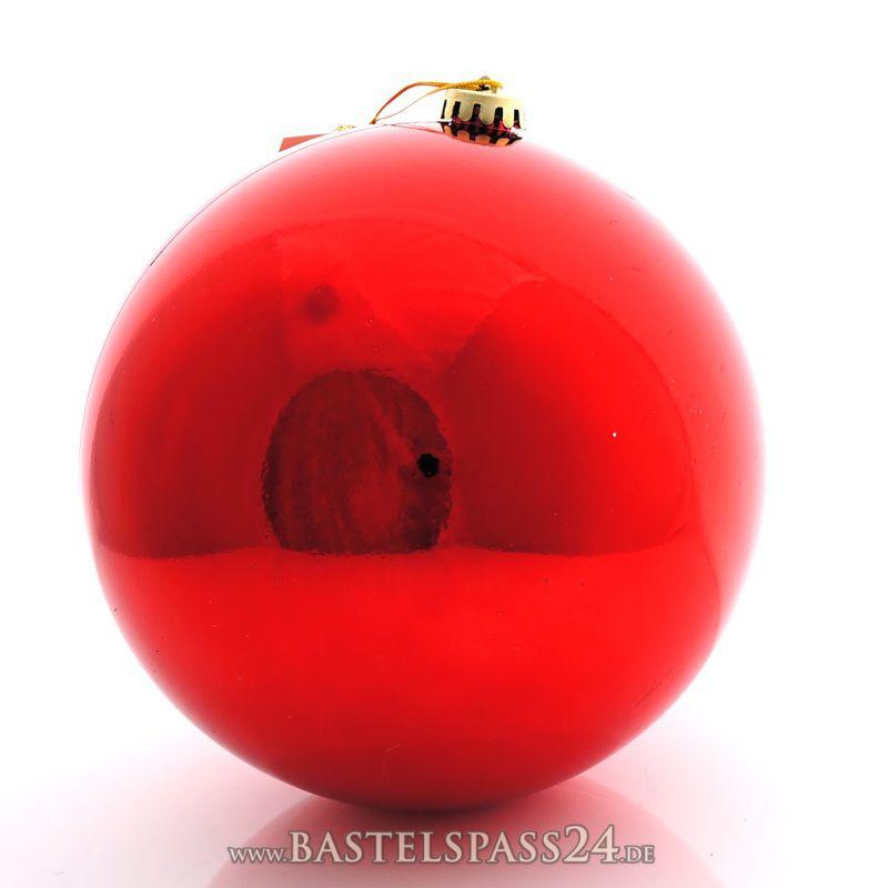 weihnachtskugeln kunststoff gro 20 cm rot ve 1 st ck 13 50 bastelspa. Black Bedroom Furniture Sets. Home Design Ideas