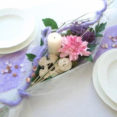 Tischdekoration Im Trend Mit Sizoflor Moderne Tischgestecke In Violet