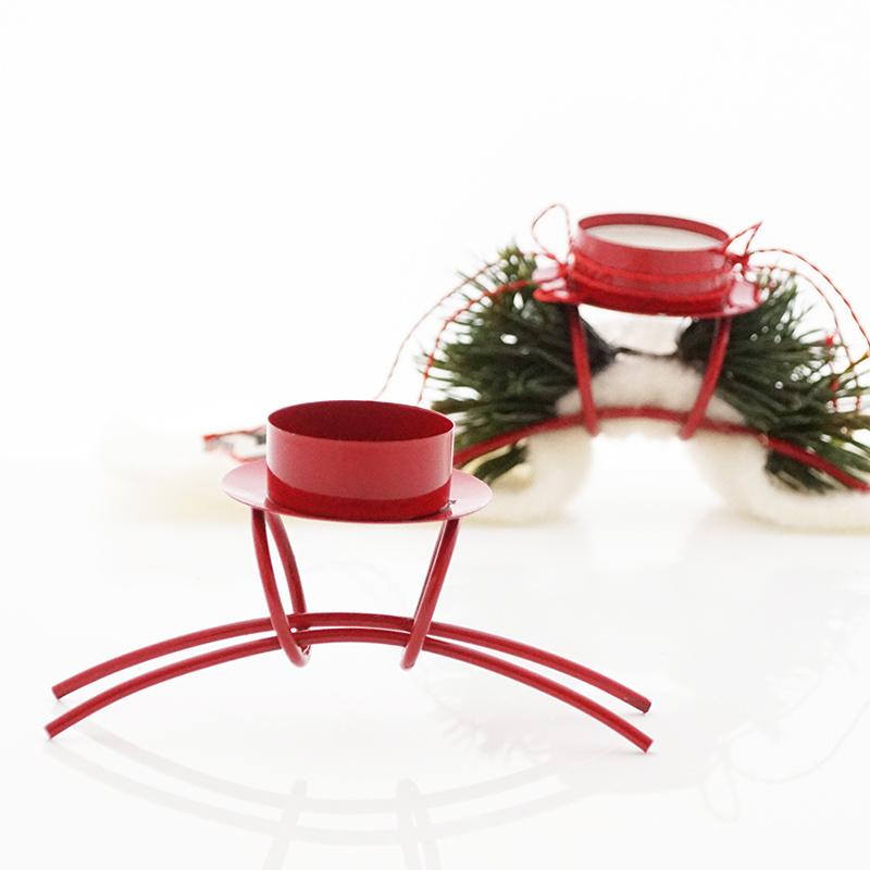 metall kerzenhalter rot f r kerzen oder teelichter d 4 cm ba. Black Bedroom Furniture Sets. Home Design Ideas