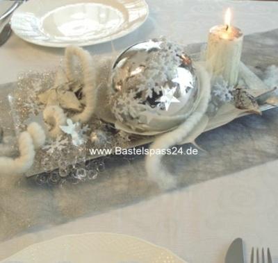 Tischdekoration Basteln Fur Silvester In Silber Weiss Kreat