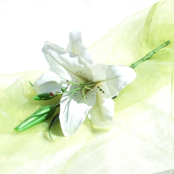 lilien wei seidenblume kunstblume sehr hohe qualit t wi. Black Bedroom Furniture Sets. Home Design Ideas