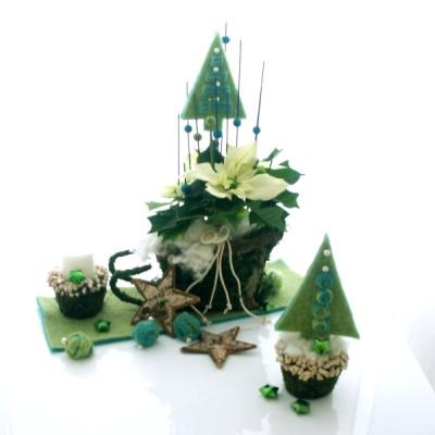 weihnachtliche tischdeko basteln modern trendig kreativ und praktis. Black Bedroom Furniture Sets. Home Design Ideas