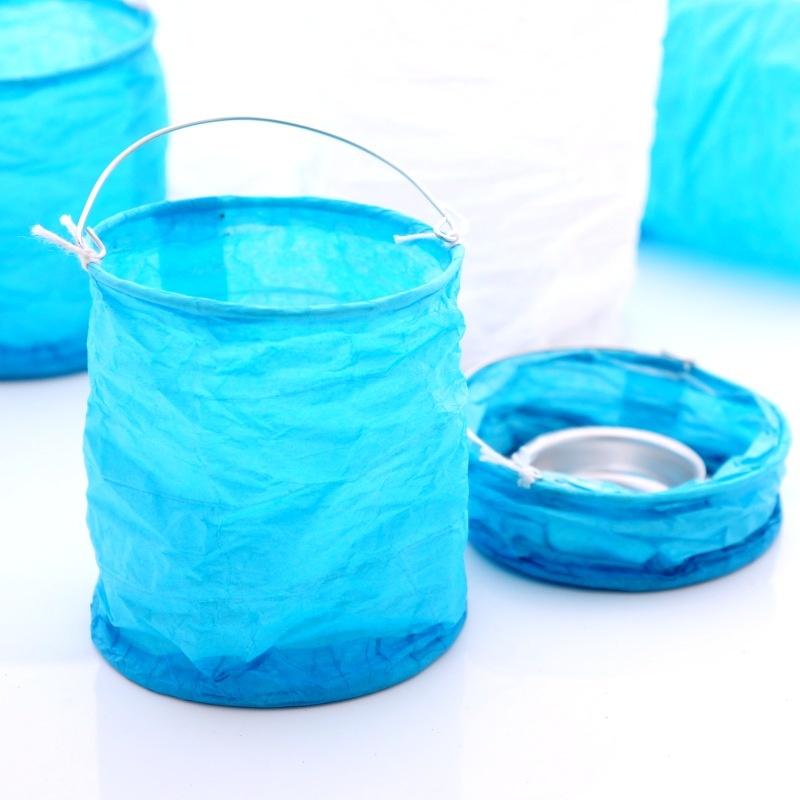 kleine lampion aus papier gr h 9cm b 8cm farbige windlichter f. Black Bedroom Furniture Sets. Home Design Ideas