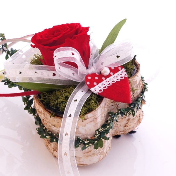 Tischdeko Mit Birkenherzen Gesteckschale F R Hochzeit