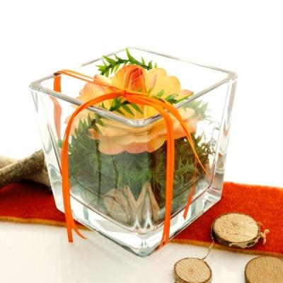 tischdeko mit glasvasen für hochzeit und feste! blumengestecke mi, Garten ideen