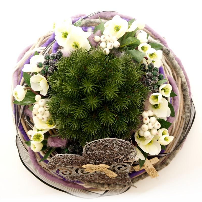 pflanzschale aus weide gro e schale zum pflanzen d 45 cm. Black Bedroom Furniture Sets. Home Design Ideas
