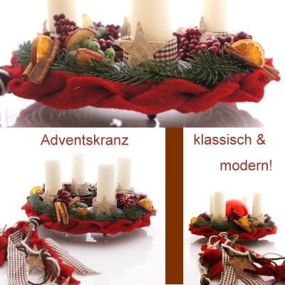 hier gibts tolle diy ideen floristik f r advent. Black Bedroom Furniture Sets. Home Design Ideas
