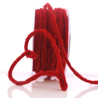 Wollschnur MIT DRAHT und Jutekern, L 3 m Stärke 5 mm, echte Schur