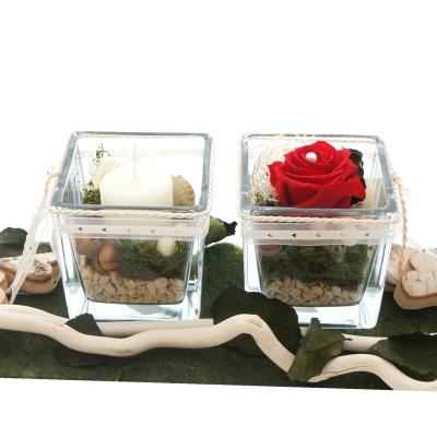 Tischdeko Hochzeit Mit Roten Rosen Modern In Glasvasen Dekoreirt Zum