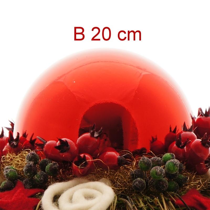weihnachtskugeln kunststoff gro 20 cm rot ve 1 st ck ba. Black Bedroom Furniture Sets. Home Design Ideas