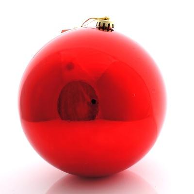 weihnachtskugeln kunststoff gro 20 cm rot ve 1 st ck bas. Black Bedroom Furniture Sets. Home Design Ideas