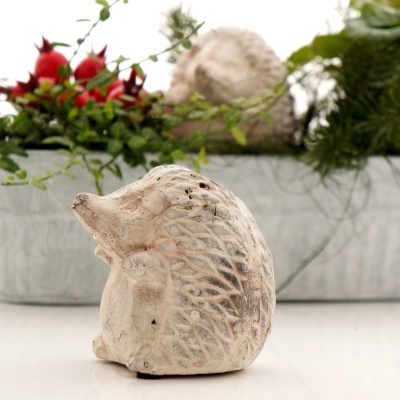 deko igel grau weiß, stein optik aus beton, h 9 cm b 7,5 cm, f&u, Gartenarbeit ideen
