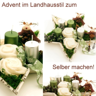 Hier Gibts Tolle Diy Ideen Floristik F R Advent