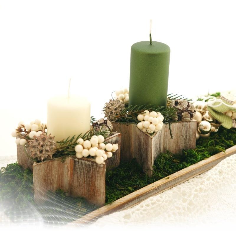 sternschale aus holz f r weihnachten und tischdeko gr 13 5 x 6. Black Bedroom Furniture Sets. Home Design Ideas