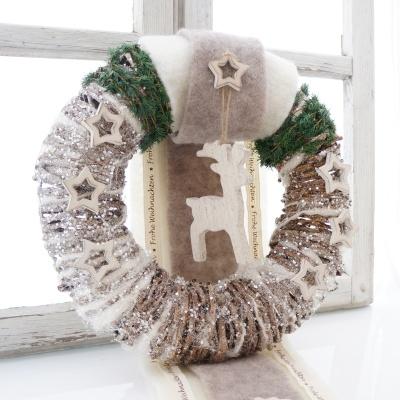 Türkranz Weihnachten kranz türkranz rebenkranz aus geweißter rebe gr 30 x 8