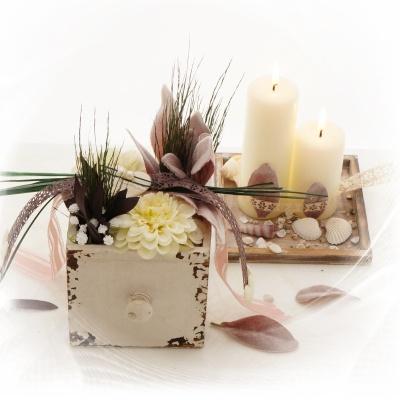 Tischdeko holz selber machen  Tischdeko selber machen für Hochzeit und Feste im Landhausstil vi