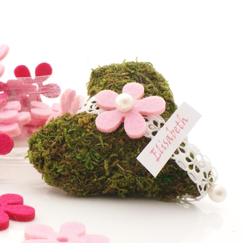 ... Blumen aus Filz für Tischdeko rosa / pink VE 24 Stück in Box Gr 3cm
