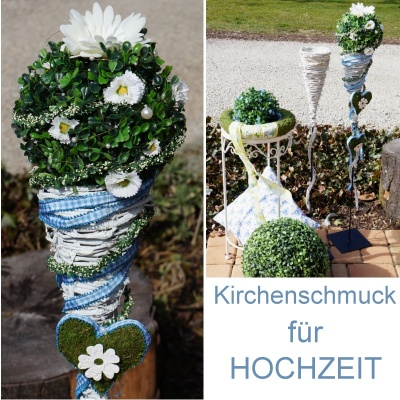 kirchenschmuck selber machen kirchendeko f r hochzeit bastelspass2. Black Bedroom Furniture Sets. Home Design Ideas