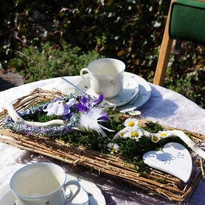 Tischdeko Im Landhausstil Fruhjahr Ostern Landhaus Basteln Mit N