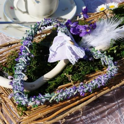 Landhausstil tischdeko  Tischdeko im Landhausstil Frühjahr Ostern, Landhaus Basteln mit N