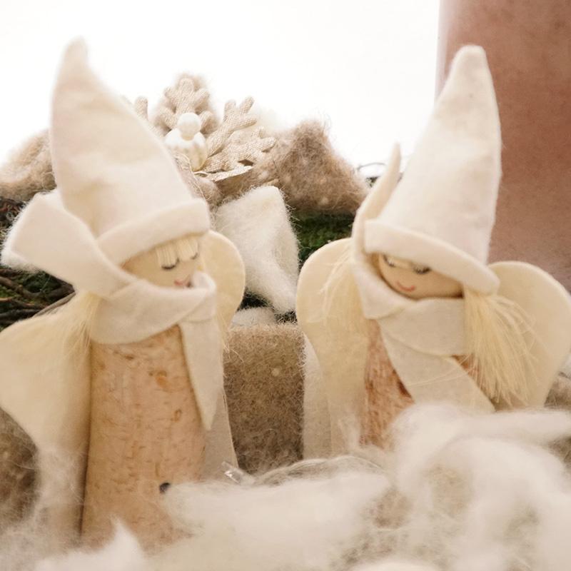 deko engel aus birke f r advent weihnachten floristik basteln. Black Bedroom Furniture Sets. Home Design Ideas