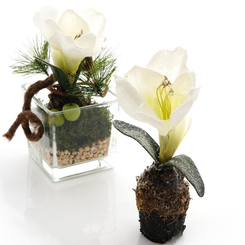 amaryllis seidenblumen weihnachten mit ballen h22 cm. Black Bedroom Furniture Sets. Home Design Ideas