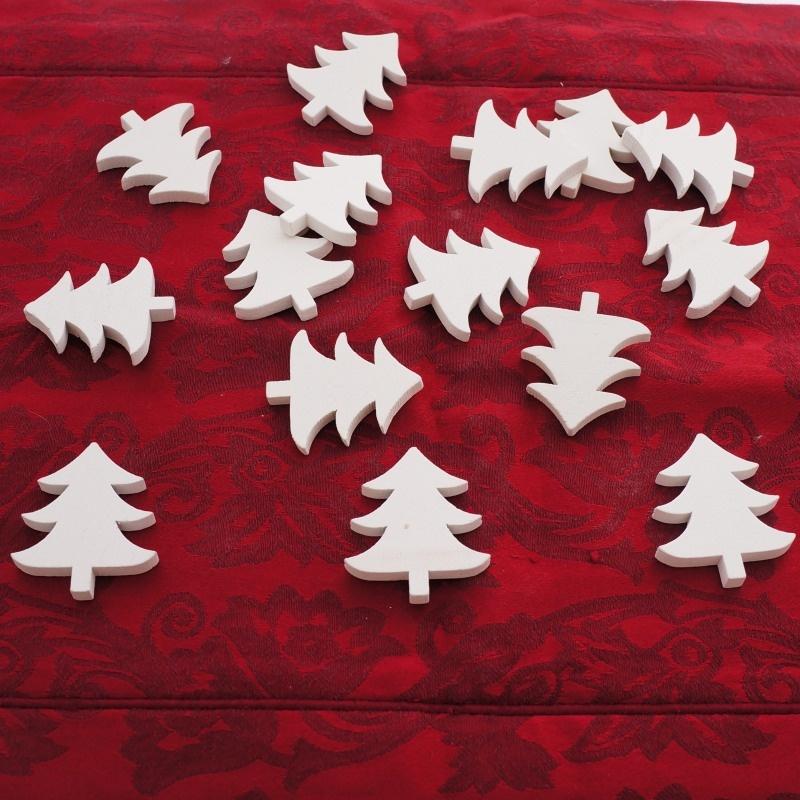 streuteile weihnachten tannenbaum aus holz ve 15 st. Black Bedroom Furniture Sets. Home Design Ideas