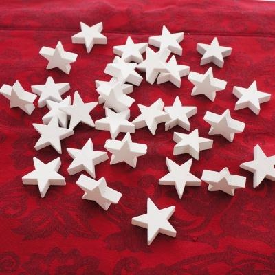 Streusterne Weihnachten Sterne Aus Holz D 3cm Ve 30 St Zum Streuen Und Basteln Weiß