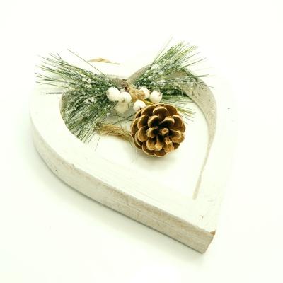 t rschmuck holzherz f r weihnachten floristik basteln bastelanleitungen. Black Bedroom Furniture Sets. Home Design Ideas