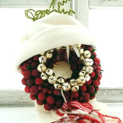 Türkranz Weihnachten deko glocken glockengranz weihnachten gr d 13 cm in silber für