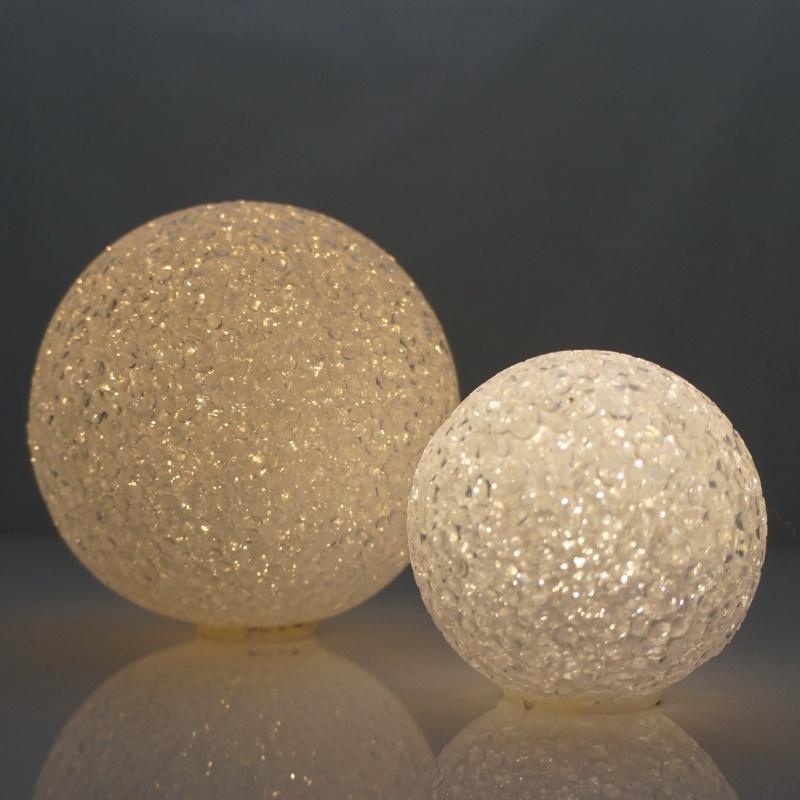 lichtkugel leuchtkugel d 12cm warm light glizernd wei. Black Bedroom Furniture Sets. Home Design Ideas