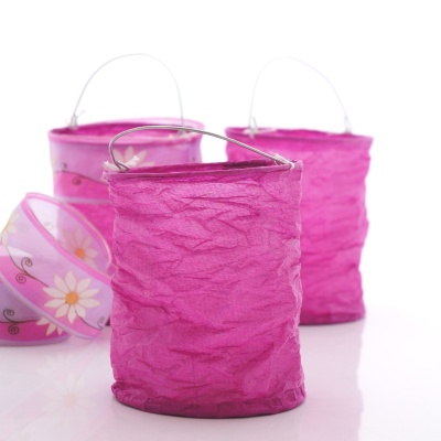 Lampion Aus Papier Schwer Entflammbar Pink 10x15cm Fur Tischd