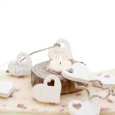 Streuherzen Hochzeit Weiss Aus Holz Ve 10 St Gr 5 Cm Fur