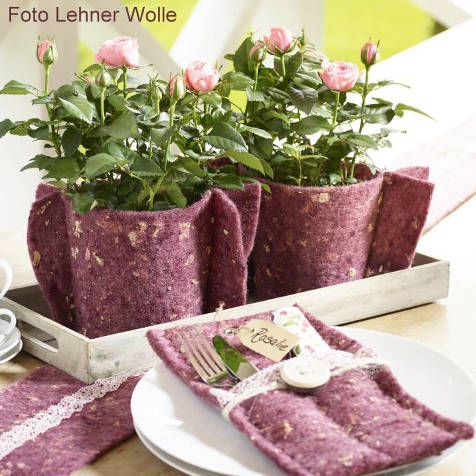 Tischdeko Mit Wollband Selber Machen Basteln Oder N Hen
