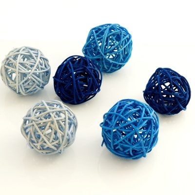 Rebenkugeln Ca 5 Cm Dunkelblau Blau Hellblau Ve 6 Stk Fur Ti