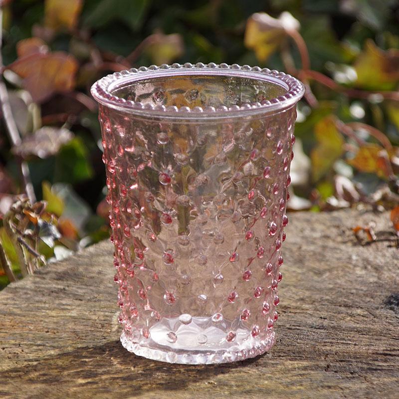 Glasvase glastopf rosa f r tischdeko g nstig kaufen - Glasvase vintage ...